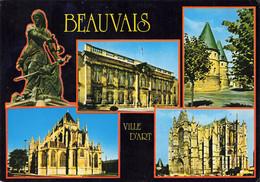 Lot De 10 Cartes Postales CPSM - 4 De Beauvais(Oise) Cathédrale Saint-Pierre - 6 De Pontigny(Yonne) Eglise Abbatiale - - 5 - 99 Postales