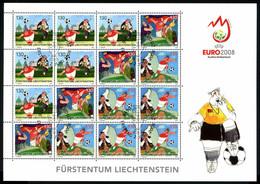 Liechtenstein Kleinbogen MiNr. 1479-81 Ersttagssonderstempel Fußball EM (Fuß494 - Bloques & Hojas