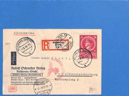 Allemagne Reich 1944 Postkarte De Reichenau à La Suisse, Avec Censure   (G2273) - Storia Postale