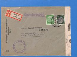 Allemagne Reich 1940 Lettre De Berlin Aux États-Unis, Avec Censure   (G2274) - Storia Postale