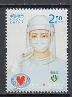 2020 Macau Covid Health Disease Complete Set Of 1 MNH - Malattie