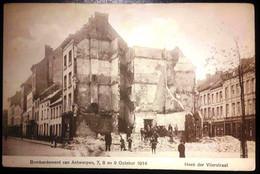 Antwerpen Bombardement Van Antwerpen 7 8 En 9 October 1914 Wo1 Hoek Der Vlierstraat - Antwerpen