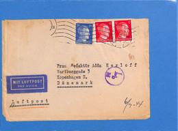 Allemagne Reich 1944 Lettre Par Avion De Berlin Au Danemark, Avec Censure   (G2289) - Storia Postale
