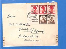 Allemagne Reich 1935 Lettre De Wandsbek à La Suisse, Avec Censure   (G2290) - Covers & Documents
