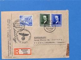Allemagne Reich 1940 Lettre De Metzingen à La Suisse, Avec Censure   (G2298) - Storia Postale