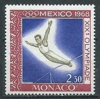 Monaco YT N°741 Jeux Olympiques De Mexico 1968 Barre Fixe Neuf ** - Nuevos