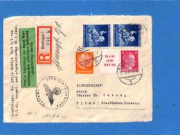 Allemagne Reich 1942 Lettre De Reutlingen à La Suisse, Avec Censure   (G2300) - Storia Postale
