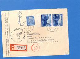 Allemagne Reich 1941 Lettre De Reutlingen à La Suisse, Avec Censure   (G2302) - Storia Postale