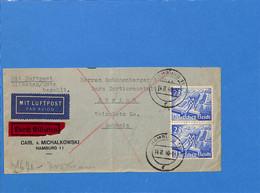 Allemagne Reich 1940 Lettre Par Avion De Hamburg à La Suisse, Avec Censure   (G2306) - Storia Postale