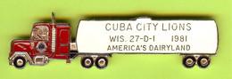 Gros Pin's Club Lions Camion De Livraison  - #200 - Associazioni