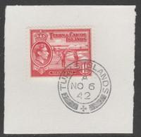 Turks & Caicos Islands 1938 KG6 Raking Salt 1.5d Scarlet  SG 197 With Madame Joseph Forged Postmark Type 427 - Turks- En Caicoseilanden
