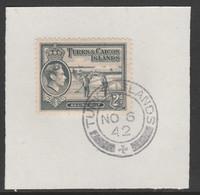 Turks & Caicos Islands 1938 KG6 Raking Salt 2d Grey  SG 198 With Madame Joseph Forged Postmark Type 427 - Turks- En Caicoseilanden