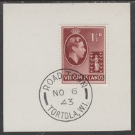 British Virgin Islands 1938-47 KG6 Badge Of Colony 1.5d Red-brown With Madame Joseph Forged Postmark Type 434 - British Virgin Islands