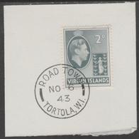 British Virgin Islands 1938-47 KG6 Badge Of Colony 2.d Grey With Madame Joseph Forged Postmark Type 434 - British Virgin Islands