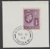 British Virgin Islands 1938-47 KG6 Badge Of Colony 6d Mauve With Madame Joseph Forged Postmark Type 434 - British Virgin Islands
