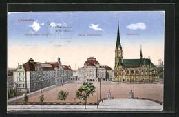AK Chemnitz, Blick Auf Stadttheater, Petrikirche Und König Albert Museum - Theater