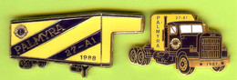 2 Pin's Club Lions Camion De Livraison Palmyra - #216 - Associazioni