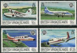 British Virgin Isl. 1983. Mi.#456/59 MNH/Luxe. Transport. Aviation. Airplanes. Aircraft (Ts27) - British Virgin Islands