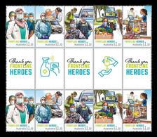 Australia 2021 Mih. 5248/52 Covid-19 Coronavirus Frontline Heroes (gutter Strip) MNH ** - Mint Stamps