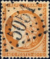 France - Yv.38 40c Siège Oblitéré GC 5051 D'ORAN (Algérie) - TB - 1849-1876: Classic Period
