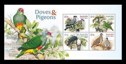Australia 2021 Mih. 5303/06 (Bl.687) Fauna. Birds. Doves And Pigeons MNH ** - Ungebraucht