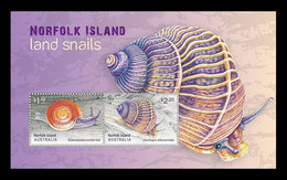 Norfolk Island 2021 Mih. 1301/02 (Bl.81) Fauna.Land Snails MNH ** - Norfolk Eiland