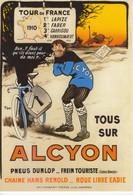 ALCYON Cycles  - Tour De France 1910  -  Publicité D'epoque  -  Artiste: Thor  -   CPM - Ciclismo