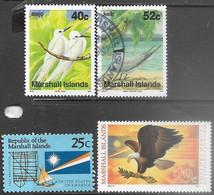 Marshall Islands   1990-1  Sc#360 MNH, 362 Used, 381 MNH, 399 MNH  2016 Scott Value $3.95 - Islas Marshall