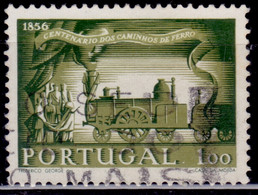 Portugal, 1956, 100th Anniversary Of Railroads, 1e, SW#839, Used - Used Stamps