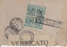 Lettre D'Italie, Avec Censure - 14 X 9,5 Cms. - Zonder Classificatie