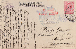 Carte Postale ( Oeuf Frais ), Avec Censure Italienne - Zonder Classificatie