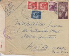 Lettre D'Italie, Avec Censure - 15,5 X 12 Cms, à Destination D'Israël - Zonder Classificatie