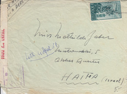 Lettre D'Italie, Avec Censure - 15,5 X 11,5 Cms, à Destination D'Israël - Zonder Classificatie