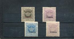 Timor 1885 Yt 1 4 6 8 * - Timor