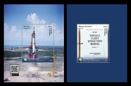 Aitutaki 2021 Mih. 1160/61 (Bl.132/33) Mercury-Redstone 3 Space Flight MNH ** - Aitutaki
