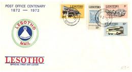 (SS 12) Lesotho FDC - Post Office Centenary - Correo Postal