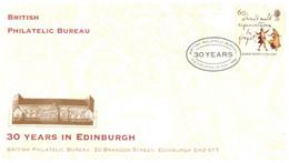 (SS 12) UK FDC - 30 Years Of Philatelic Bureau In Edinburgh - Correo Postal