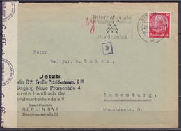 "Allemagne - L. Affr. 12pf Flam. ""BERLIN N4 /22.8.1940/ Internationale Leipziger Messe"" Pour LUXEMBOURG - Bande Censure M - Brieven En Documenten"