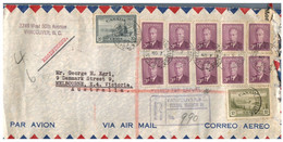 (SS 12) Canada Registered Letter Posted To Australia - 1950 - Storia Postale
