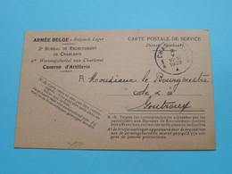 GOUTROUX à Mr. Le Bourgmestre - CP De Service Armée Belge > 2 Mai 1929 / Recrutement ( Zie / Voir Photos ) ! - Charleroi