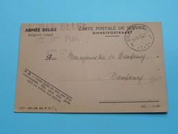DAMPREMY à Mr. Le Bourgmestre - CP De Service Armée Belge > 24-8-1945 / Recrutement ( Zie / Voir Photos ) ! - Charleroi