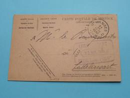 LODELINSART à Mr. Le Bourgmestre - CP De Service Armée Belge > 10-11-1930 / Recrutement ( Zie / Voir Photos ) ! - Charleroi
