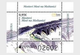 Montenegro MNH ** 2018 Europa 2018 - Bridges - Montenegro