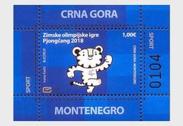 Montenegro MNH ** 2018 Sport PyeongChang 2018 Olympic Winter Games - Montenegro