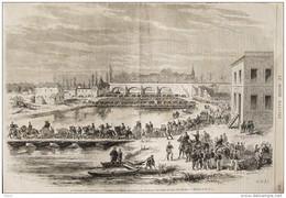 La Bataille De Champigny - Passage De La Marne Par L'armée De Paris - Page Original  1870 - Historical Documents