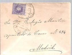 CARTA  ALAR DEL REY   PALENCIA - Storia Postale