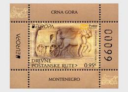 Montenegro MNH ** 2020 Europa 2020 - Ancient Postal Routes Block - Montenegro