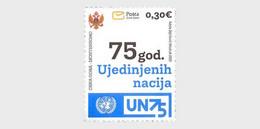 Montenegro MNH ** 2020 75 Years Of The United Nations - Montenegro