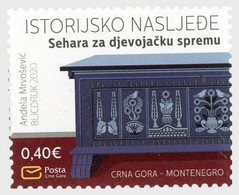 Montenegro MNH ** 2020 Historical Heritage Sehara- A Dowry Chest - Montenegro