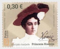 Montenegro MNH ** 2020 Historical Heritage - Princess Ksenija - Montenegro
